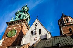 Wawel Cathedral - famous Polish landmark on the Wawel Hill in Cracow Stock Photo