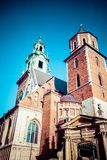 Wawel Cathedral - famous Polish landmark on the Wawel Hill in Cracow Stock Photography
