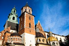 Wawel Cathedral - famous Polish landmark on the Wawel Hill in Cracow Royalty Free Stock Images