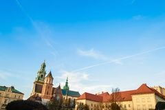 Wawel cathedral on Wawel Hill in Krakow, Poland Royalty Free Stock Photos