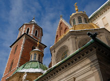 Wawel cathedral in Krakow Royalty Free Stock Photography