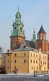 Wawel Cathedral in Krakow Royalty Free Stock Photos