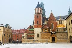 Wawel Cathedral in Krakow royalty free stock image
