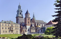 Wawel Cathedral in Krakow, Poland. Cathedral on Wawel Hill at the Castle in Cracow, Poland Royalty Free Stock Photo