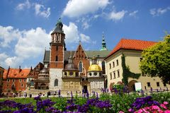 Wawel Cathedral, Krakow, Poland Stock Images