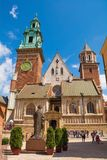 Wawel Cathedral. Krakow, Poland - July 13th 2018. Wawel Cathedral on Wawel Hill in Krakow, also known as the Royal Archcathedral Basilica of Saints Stanislaus Stock Photography