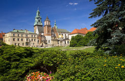Wawel Cathedral in Krakow, Poland Royalty Free Stock Photography