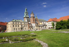 Wawel Cathedral in Krakow, Poland Royalty Free Stock Images