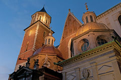 Wawel Cathedral richly decorated. Wawel Cathedral richly decorated and beautifully illuminated Stock Photo