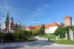 Wawel Cathedral and Royal Castle in Cracow, Poland. Stock Photo