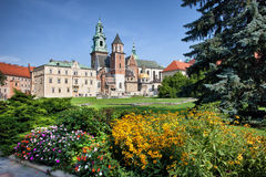 Wawel Cathedral and Royal Garden in Krakow Royalty Free Stock Photos
