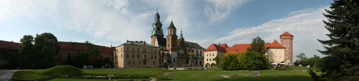 Wawel Cathedral and the Royal Palace in Krakow, Poland. Royalty Free Stock Images
