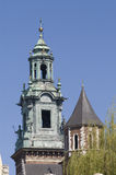 Wawel cathedral towers Royalty Free Stock Photos