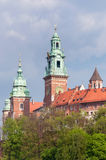 Wawel Cathedral towers in Krakow Royalty Free Stock Image