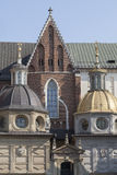 Wawel Cathedral on Wawel Hiill in old town of Cracow in Poland Stock Photography