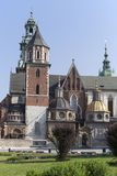 Wawel Cathedral on Wawel Hiill in old town of Cracow in Poland Royalty Free Stock Images
