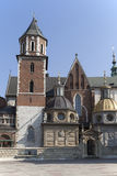 Wawel Cathedral on Wawel Hiill in old town of Cracow in Poland Royalty Free Stock Photos