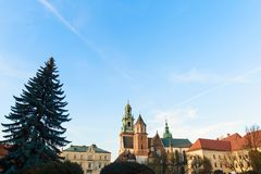 Wawel cathedral Wawel Hill in Krakow, Poland Royalty Free Stock Photo