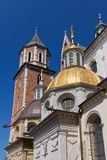 Wawel cathedral on wawel hill in old town of cracow in poland Royalty Free Stock Photo