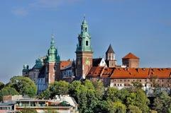 Wawel domkyrka i Cracow royaltyfri fotografi
