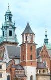 Wawel domkyrka (Krakow, Polen) Arkivbilder