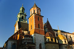Wawel domkyrka och Wawel slott i Cracow, Polen Royaltyfri Bild