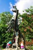 Wawel Dragon in Krakow, Poland. Stock Image