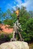 Wawel Dragon Sculpture Stock Photo