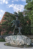 Wawel Dragon Sculpture Stock Photos