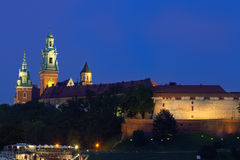Wawel is a fortified architectural complex erected on the left b Stock Images