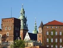 Wawel Hügel Wawel Castel Krakau Lizenzfreies Stockfoto