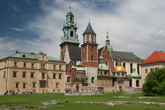 Wawel Hill. The Royal Castle and the Cathedral are situated on the Hill. Polish Royalty and many distinguished Poles are interred in the Cathedral and royal Stock Image