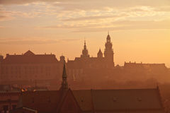 Wawel hill with castle in Krakow Stock Photography