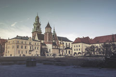 Wawel hill with cathedral and castle in Krakow Stock Photo