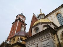 Wawel hill in Krakow in Poland Stock Photos