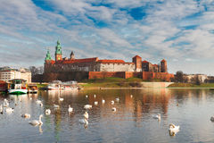 Wawel hill in Krakow, Poland Stock Images
