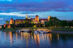 Wawel hill in Krakow, Poland Stock Photography