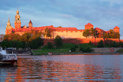 Wawel hill in Krakow, Poland Royalty Free Stock Photos