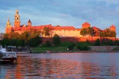 Wawel hill in Krakow, Poland Royalty Free Stock Photos