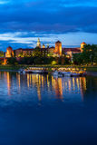 Wawel hill in Krakow, Poland Royalty Free Stock Image