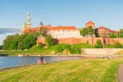 Wawel hill in Krakow, Poland Stock Photos