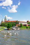 Wawel hill in Krakow, Poland Royalty Free Stock Photography