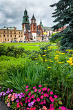 Wawel hill in spring Royalty Free Stock Images