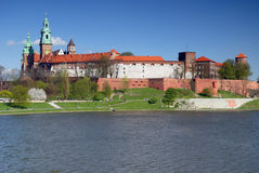 Wawel - königliches Schloss in Krakau Stockfotografie