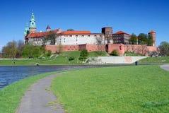 Wawel - königliches Schloss in Krakau Lizenzfreies Stockbild