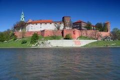 Wawel - königliches Schloss in Krakau Stockbilder