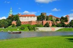 Wawel königliches Schloss in Krakau, Polen Lizenzfreie Stockfotografie