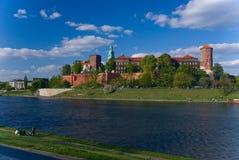 Wawel - königliches Schloss in Krakau, Polen stockbilder