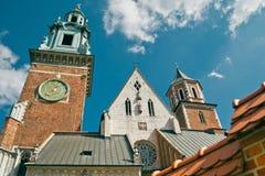 Wawel katedra - Sławny Polski punkt zwrotny Na Wawel wzgórzu W Cr Zdjęcia Stock