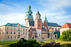 Wawel in Krakau Royalty-vrije Stock Foto's